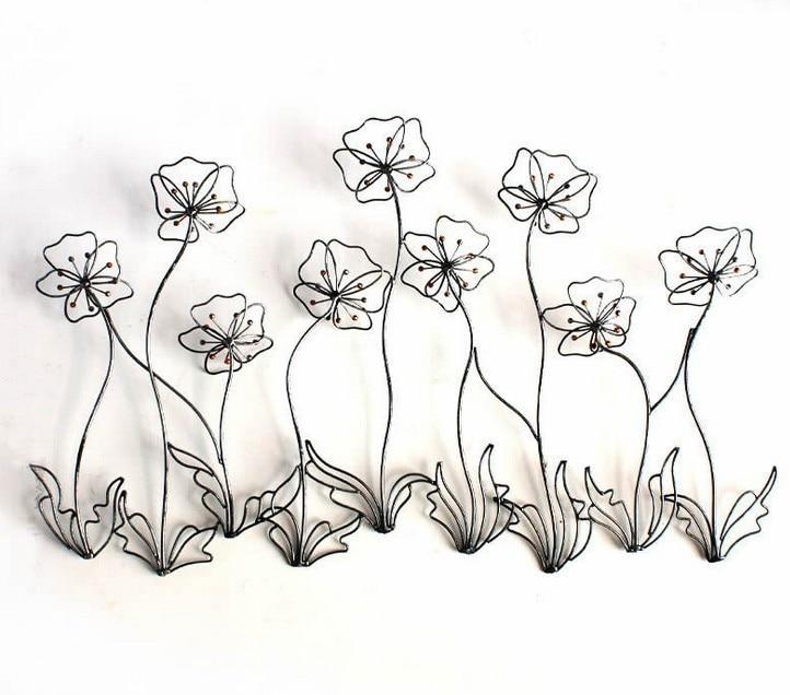 Modern Home Decor Metal Wall Art Creative Metal Flowers Golden Iron Beads As Stamen Cm On Aliexpress Com Alibaba Group