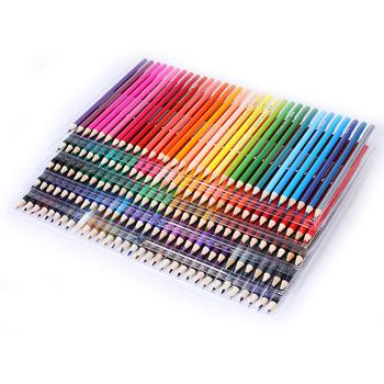 120 160 72 48 kolory drewna kredki zestaw 160 piórnik ze skóry PU malowanie artystyczne rysunek przybory do szkicowania szkic szkoła prezenty tanie i dobre opinie LISM CN (pochodzenie) Kolorowe 48 72 120 160 Colors Pastille