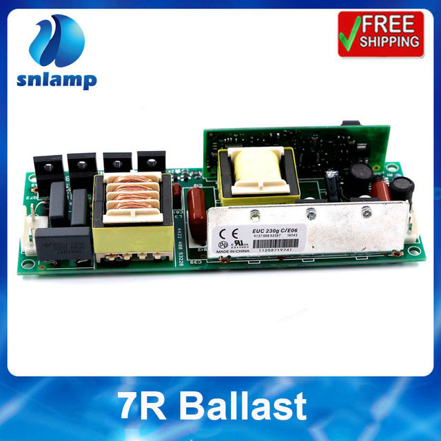 Ballast 1pc lot 230W Lamp MSD Platinum 7R Beam 230W Sharpy Moving head beam light bulb stage light Ballast Electronic Ignitor R7