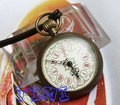 Old Look  Brass Antique Small Pocket Watch+Leather Chain