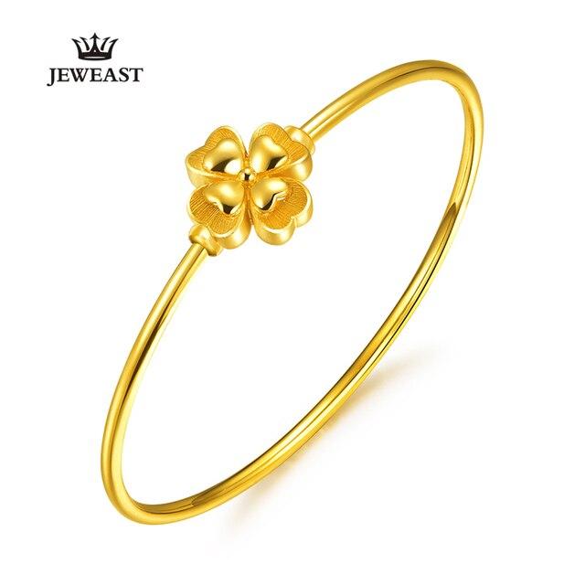 Gold Bracelet Magic Bracelet Openings Smooth Clover Bracelet