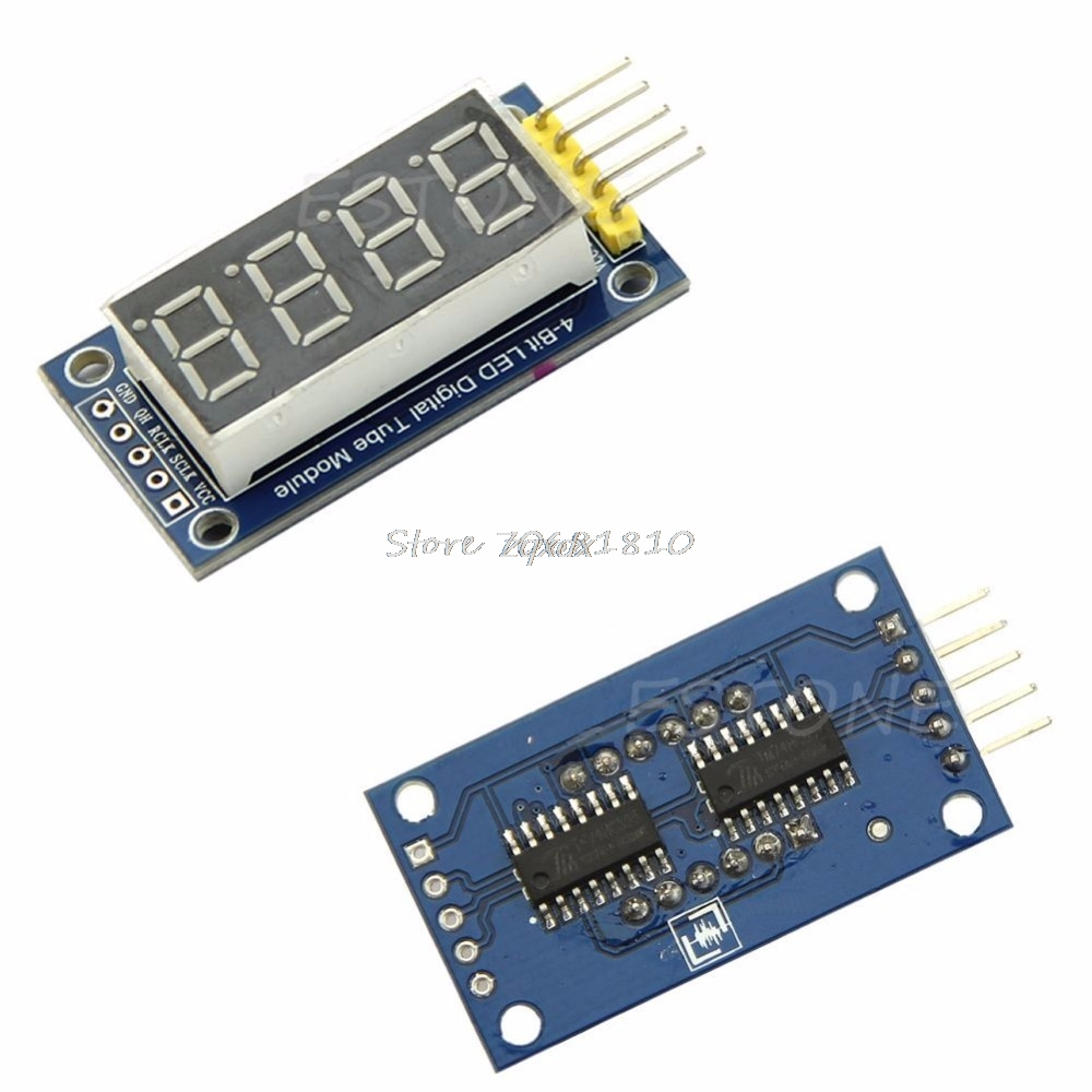 4 Bits Digital Tube LED Display Module Four Serial for 595 Driver Z07 Drop ship ...