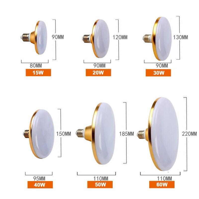 UFO E27 LED Bulb 15W-60W 220V Ampoule Disc shape Led Lamp Lights Bulbs for Home Lighting Spotlight Table Lamp for Ceiling