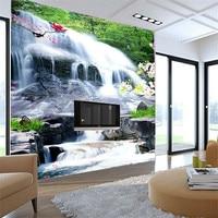 Custom mural 3D study room living room bedroom background wallpaper landscape painting waterfall wallpaper mural
