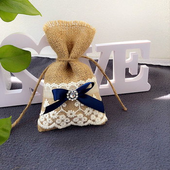 Burlap Clutches Bridesmaids Wedding Gift Bags 50pcs/lot Wedding Party Decoration Supplies Baby Shower Favors
