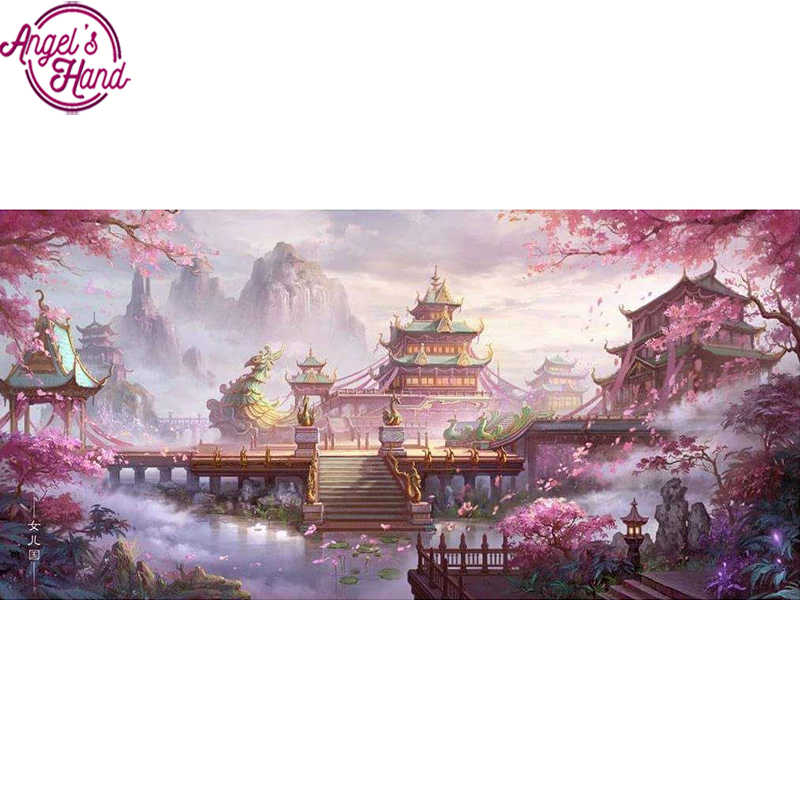 5D Diy diamond painting kit cross stitch Fantasy wonderland Game Scenes Full square Diamond embroidery Diamond Mosaic Home Wall
