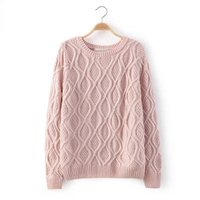 12 Color Lady Sweater Twist Long Sleeve Round Neck Cotton Hedging Bottoming Female Sweater Knitted Sweaters
