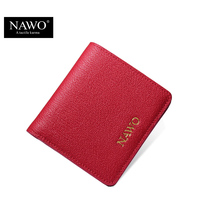 NAWO New 2016 Women Wallets Famous Brands Genuine Leather Women Short Wallets Ladies Small Coin Purse