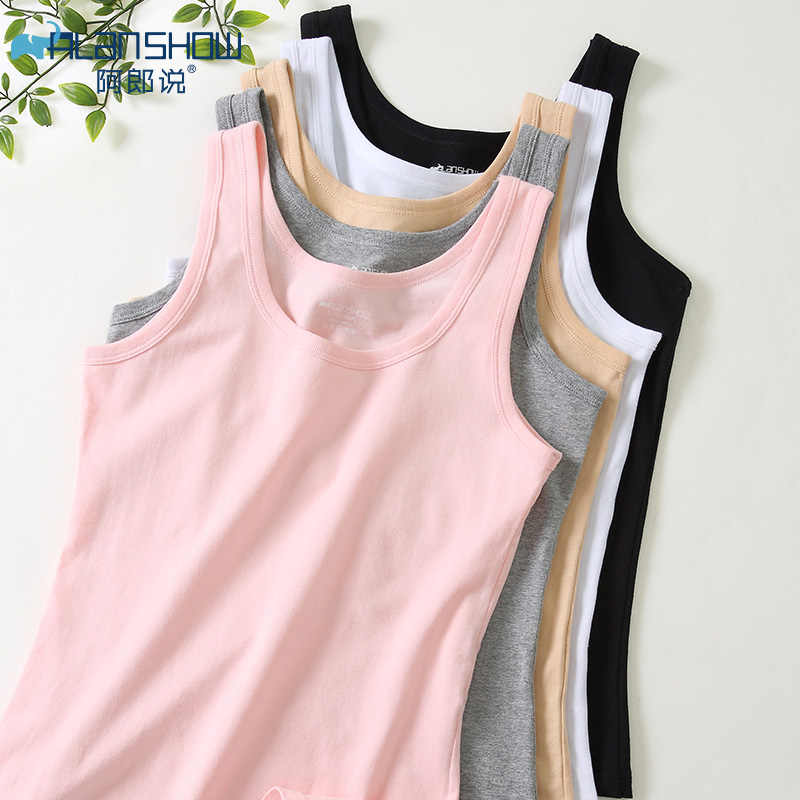 3PC/lot Summer Tank Tops Women Sleeveless Round Neck Loose T Shirt Ladies Vest Singlets Camisole Cotton Slim Ladies Thin Vest