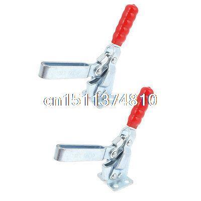 2 Pcs 227Kg 500 Lbs Holding Capacity 12130 Flanged Base Horizontal Toggle Clamp цены