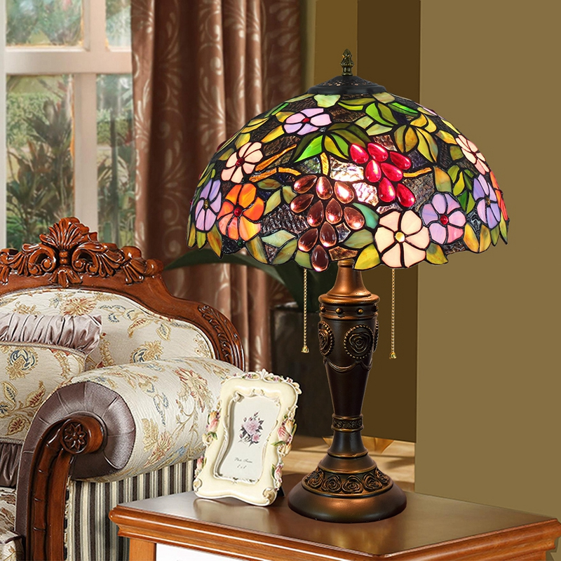 40CM American Antique Creative Grape Art Desk Lamp