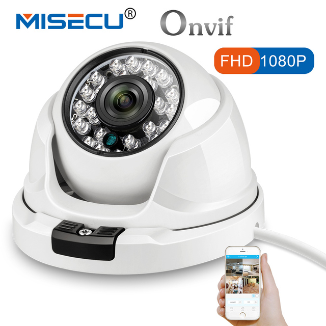 MISECU 2.8mm wide Metal IP Camera 1080P 960P 720P Vandalproof Onvif P2P Motion Detection RTSP 48V POE Surveillance CCTV Outdoor