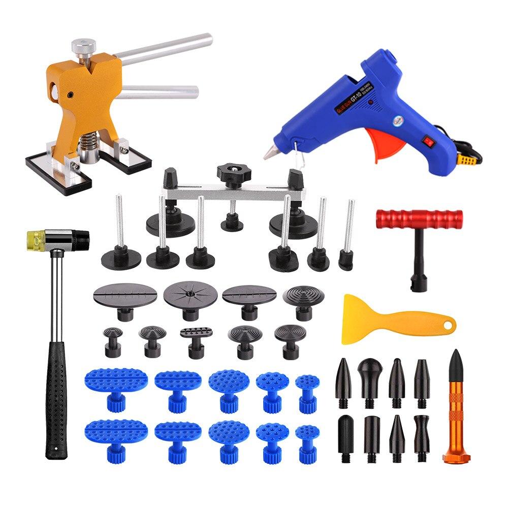ФОТО WHDZ PDR Tools Paintless Dent Repair Tools Car Hail Damage Repair Tool Hot Melt Glue Sticks Glue Gun Puller Tabs Kit
