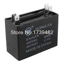 450 VAC 50Hz 6 uF MFD Air Conditioner Capacitor 4 Blades