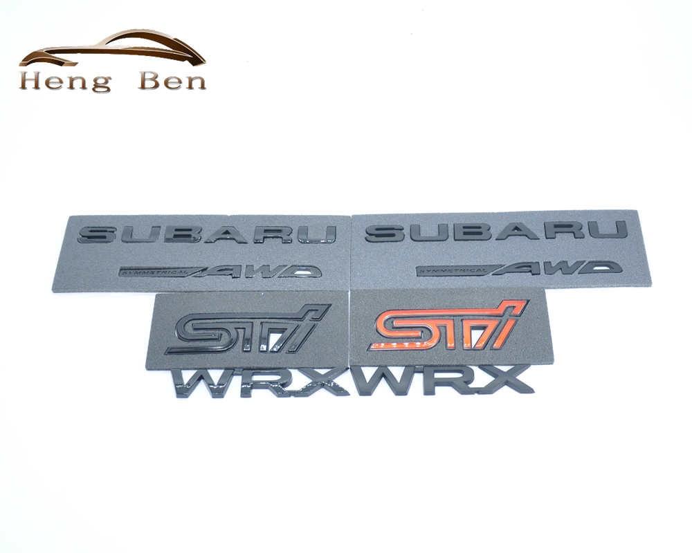 HB 3D Ausgezeichnete Glatt Glänzend Metall Abzeichen STI Emblem Abzeichen Aufkleber für Subaru STI WRX Auto Styling Zubehör