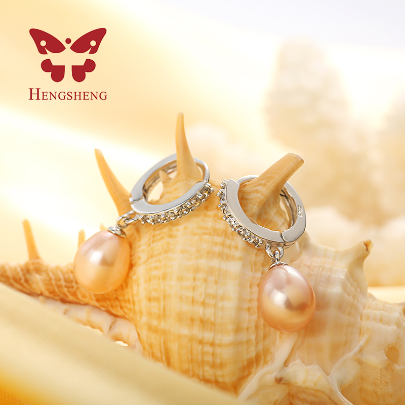 HENGSHENG 100% Genuine pearl jewelry natural pearl earrings cultured - Fashion Jewelry - Photo 4