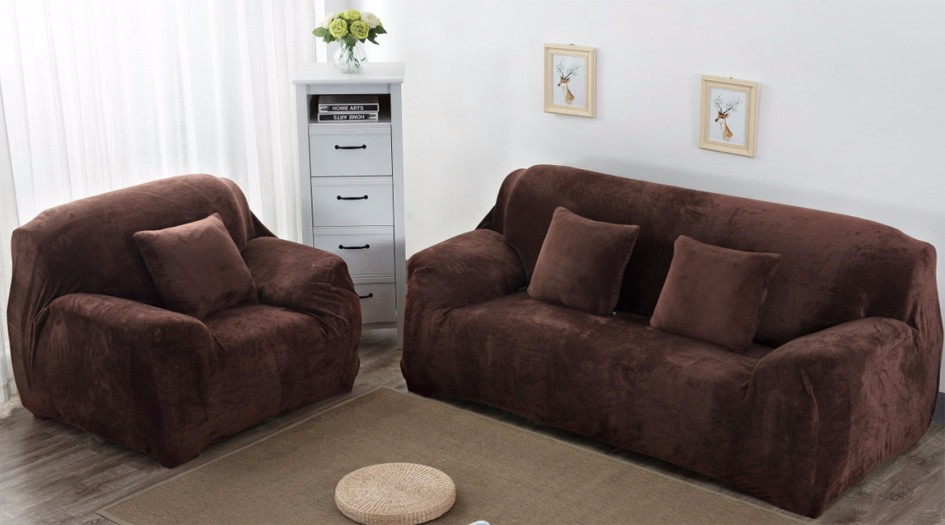 Elastic I Shaped Sofa Cover For Leather Sofa Sure Fit Strenth