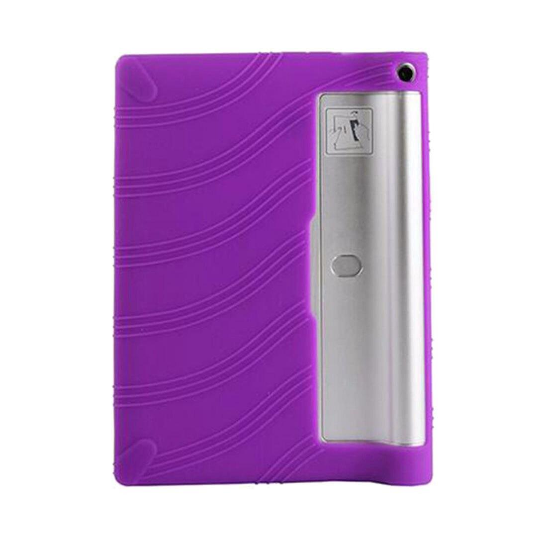 Galleria fotografica TPU Silicone Gel Rubber Case Cover For 10.1'' inch Lenovo Yoga Tablet 2 1050F PURPLE