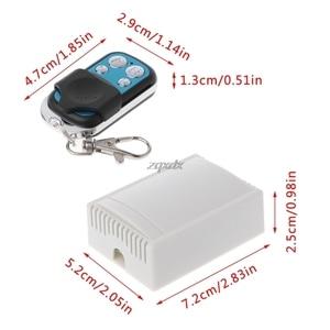 Image 5 - 433 МГц 12 В постоянного тока 4 канальный беспроводной Радиочастотный 4 релейный пульт дистанционного управления переключатель приемник