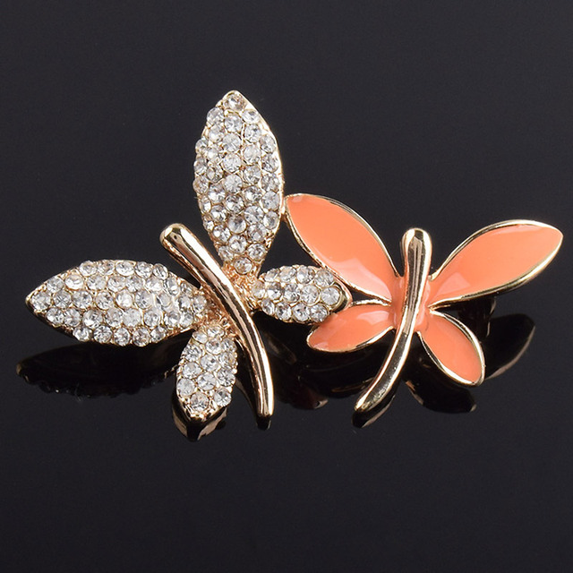 Lovely butterfly rhinestone brooches for