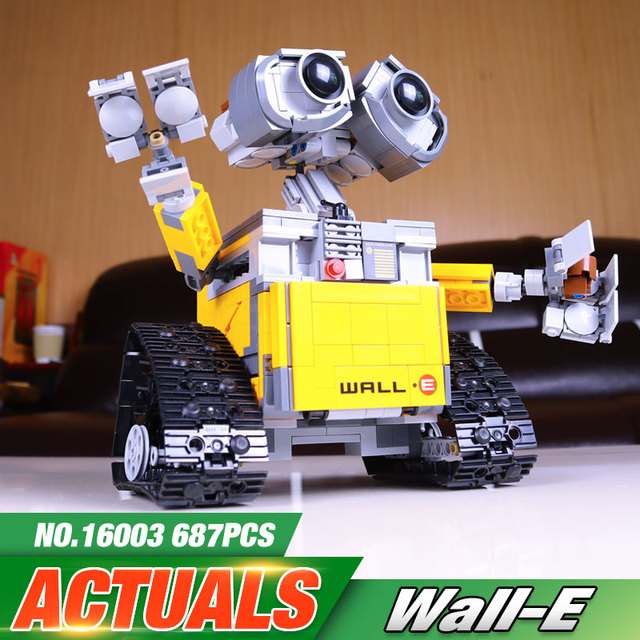 Новейшие Лепин 16003 687 шт. dea Робот WALL E Building Set Комплекты BlocksBringuedos Кирпича Милые Игрушки Для Детей