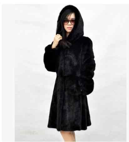 2020 Terbaru Wanita Berkerudung Panjang Bagian Hitam/Putih Fake Fur Jaket Kasual Bulu Imitasi Mantel Plus Ukuran Bulu Lebih Tahan Dr jaket K515