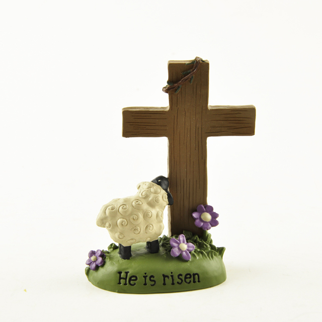 Christian gifts cross hand painted resin ornament christianity christian gifts cross hand painted resin ornament christianity crucifix crafts easter lamb revive statue the figure negle Images