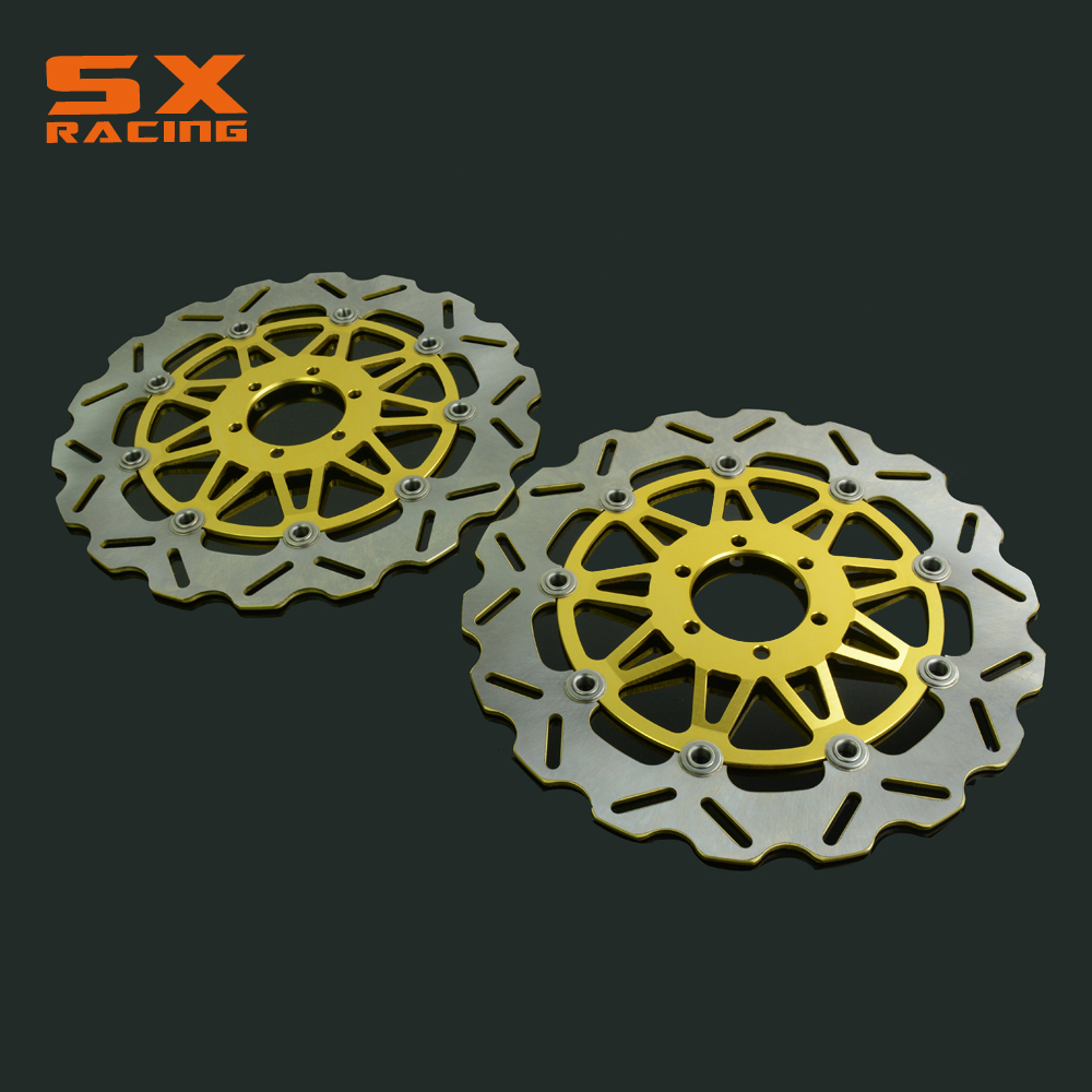 Motorcycle Front Floating Brake Disc Rotor For XJR400 FZR600 FZR 600 FZS600 FZ750 TDM850 TRX850 FJ1200 FJ 1200 Dirt Bike rear brake disc rotor for yamaha fz400 srx400 xjr400 fz600 fzr600 fzs600 srx600 xj600 yzf600 yzf750r tdm850 tdm900 yzf1000