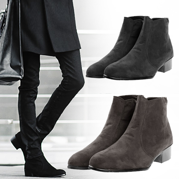 bcbb7b1c8cb4 Men s British High Top Casual Ankle Boots Cuban Heel Zip Chelsea Pointed  Toe Boots Shoes Black Brown