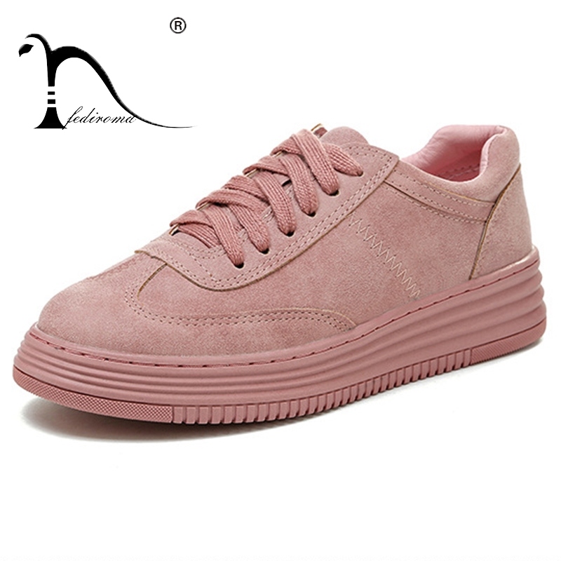 FEDIROMA Genuine Leather Flat shoes Women Autumn Shoes Woman Casual Lace-up flats Comfortable Round Toe loafers shoes asumer white spring autumn women shoes round toe ladies genuine leather flats shoes casual sneakers single shoes