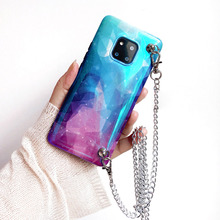 space planet chain strap tpu case for huawei mate 20 pro P30 P20 honor 10 nova 3 3i 4 cover fashoin shoulder soft shell