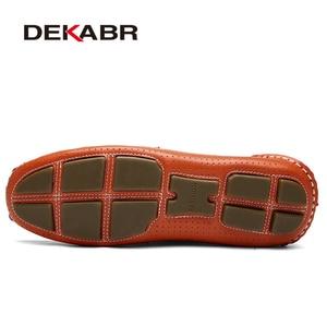 Image 4 - DEKABR 2021 גברים לנשימה עור אמיתי נהיגה גברים נעלי קיץ סתיו באיכות נעליים יומיומיות גברים Sapatos Masculinos