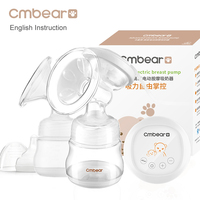 Cmbear Double Bottle Breast Pumps Large Suction PP Material Breast Feeding Automatic Massage USB Electric Breast
