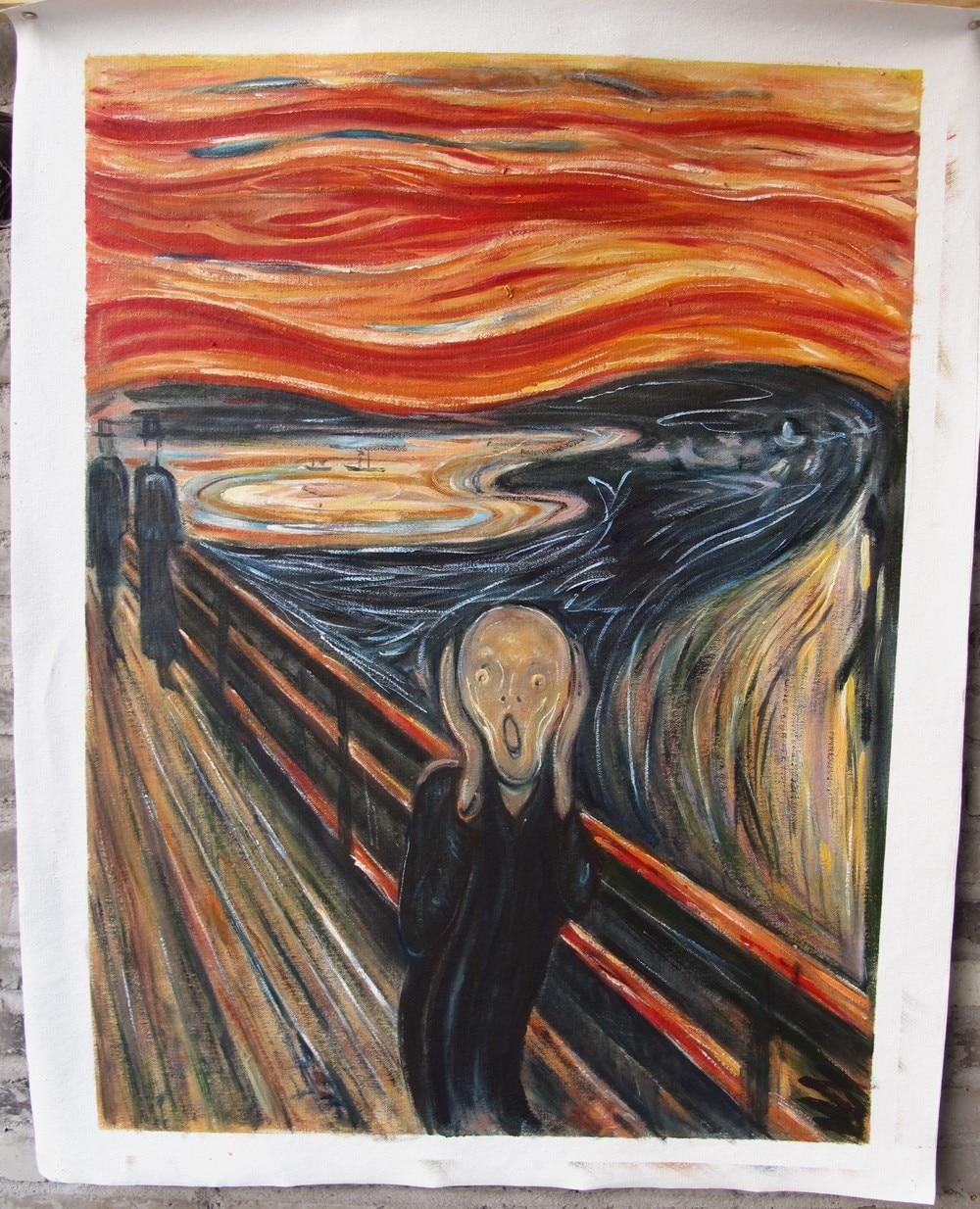 Yağlıboya (Çığlık) Edvard Munch tarafından ünlü yağlıboya - Ev Dekoru - Fotoğraf 3