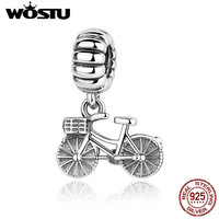 New Arrival 100 925 Sterling Silver Bike Bicycle Charm Beads Fit Original Pandora Bracelet Pendant Authentic