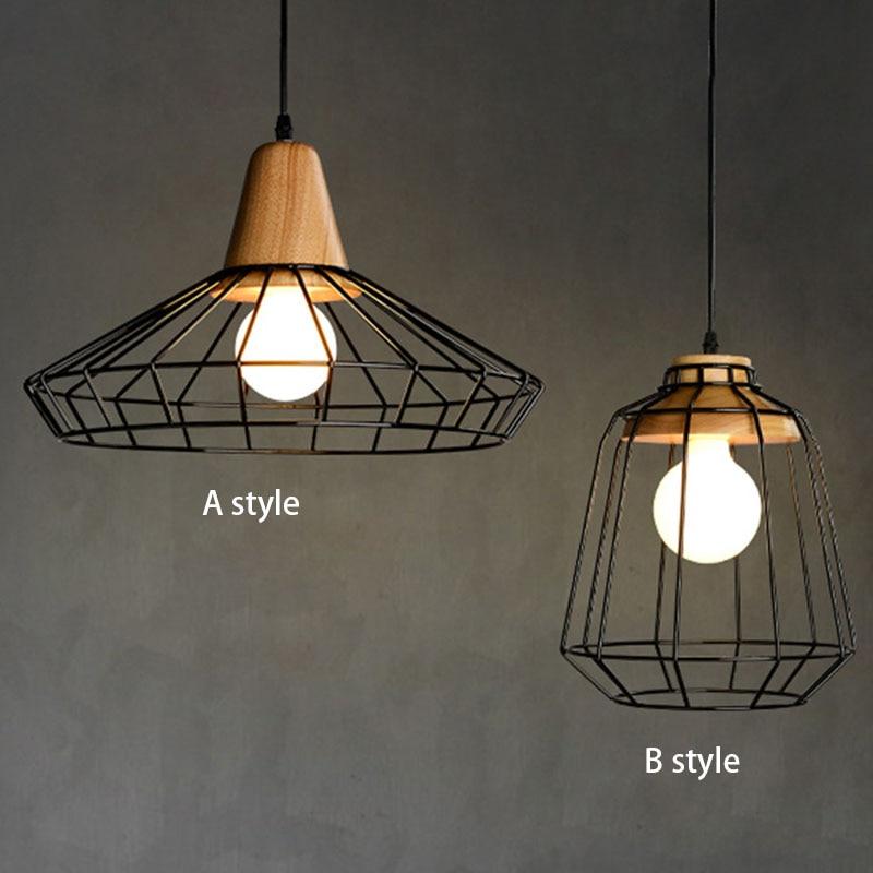 Nordic Vintage Wood Pulley Pendant Light 90 260v Lamp Industrial