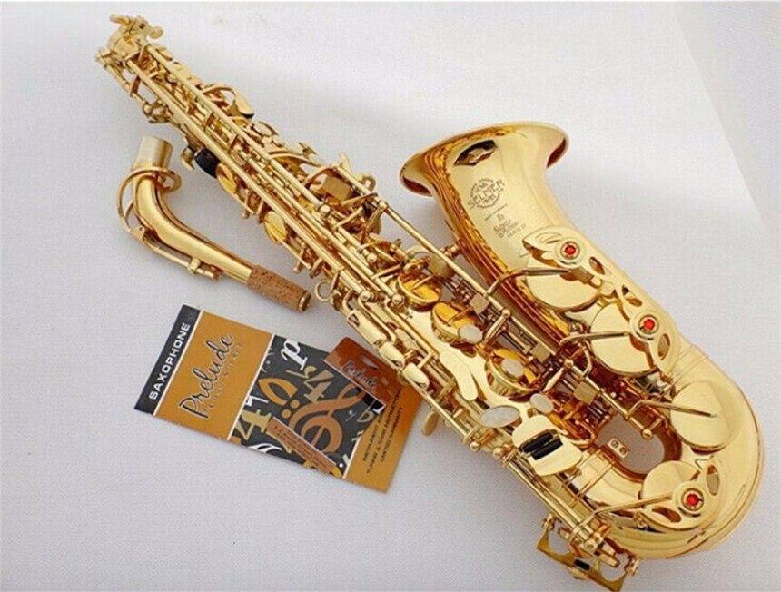Di alta Qualità in Francia Henri SAS-802 New Golden Sax Bemolle Sassofono Contralto Super Suonare Strumenti Musicali Bocchino Regalo di Trasporto