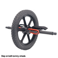 New Keep Fit Wheels No Noise Abdominal Wheel Ab Roller For Exercise Fitness Equipment,Step on both tummy wheels