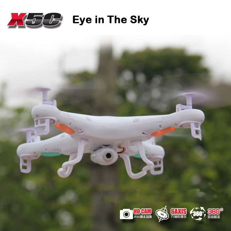 100% Original Syma X5C rc quadcopter 2.4G 6-Axis Remote Control Helicopter Toys R/C Ar.Drone With HD 2.0MP Camera