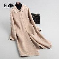 PUDI A88321 women's winter warm Wool nylon with collar coat lady coat jacket overcoat