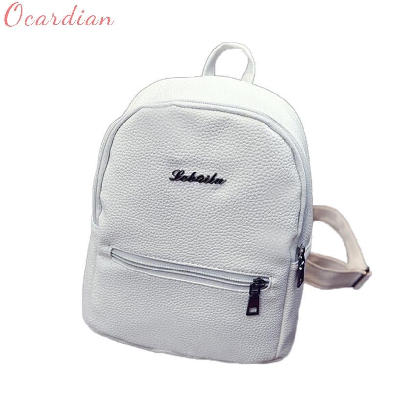 c90307c891 Dropshipping Girls Leather School Bag Travel New Backpack Satchel Women  Shoulder Rucksack send in 2 days Tags