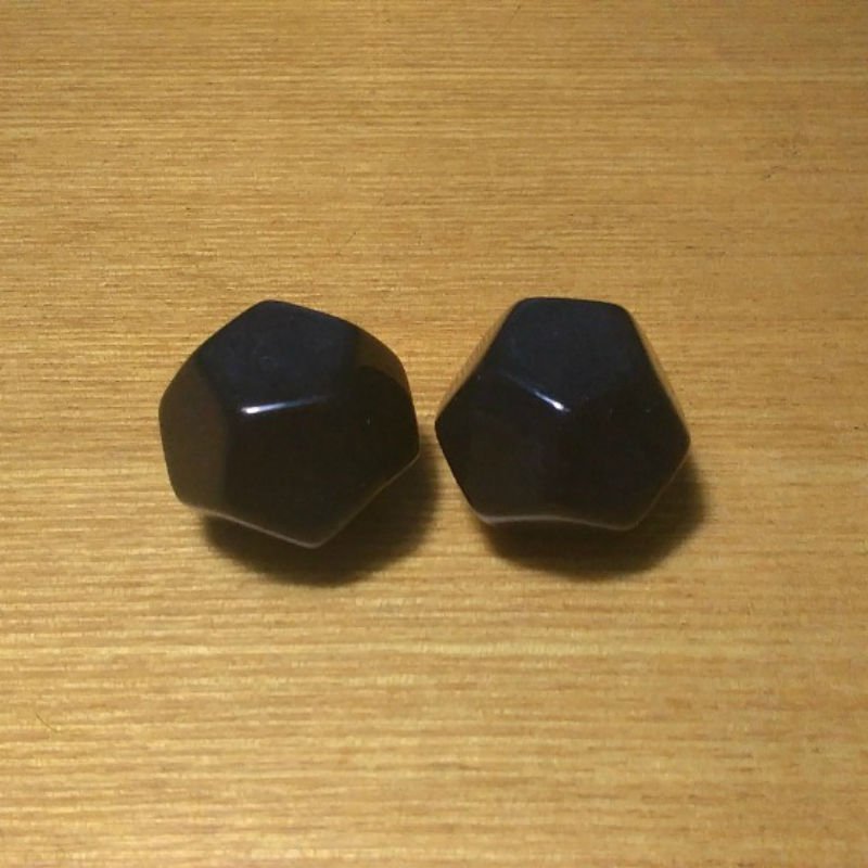 Free shipping 2pcs 12-sided black color blank dice can be written by marker pen for boardgame and other game accessories