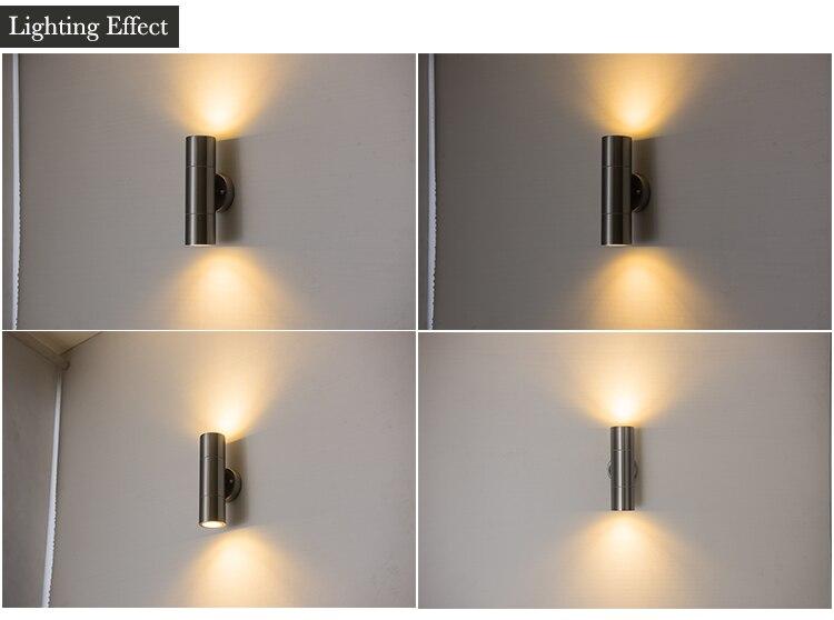 Aço Inoxidável exterior led wall arandelas lâmpada