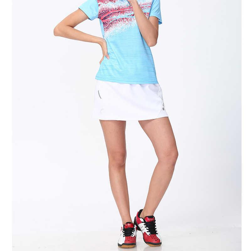 Nowe oddychające szybkie suche tenisówki damskie anty-opróżnione elastyczny pas Skort Sport Pantskirt Badminton Workout spódnica do tenisa