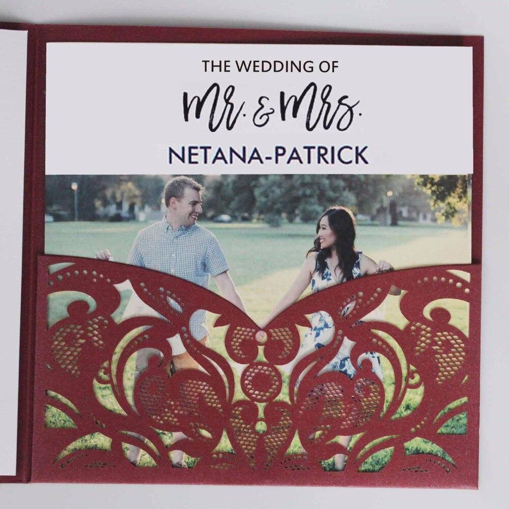 Aliexpress.com : Buy Elegant Laser Cut Wedding Invitation Set Wine ...
