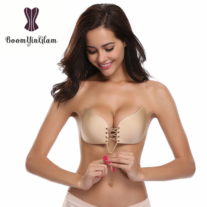 Free Shipment Fly Bra Invisible bras Self Adhesive Backless bralette Strapless Push Up Breast Lift Silicone Bras for Women