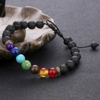 11.11 7 Chakra Bracelet Adjustable Beads Bangles & Bracelets Natural Solar System Energy Bracelet Male Healing Balance Pulseira 1