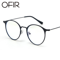 463b1aa6a6fe1 OFIR 2017 Flat Glasses Round Flat Metal Frame Korean Glasses Brand Clothing  Designer Unisex Can Equipped