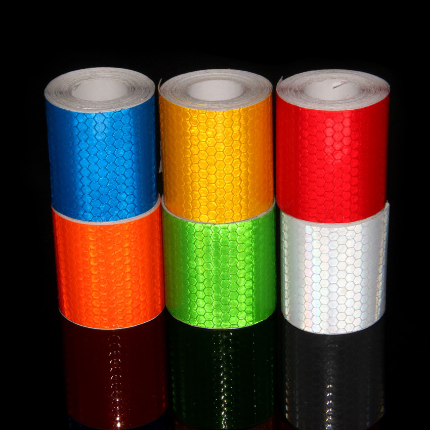 3M Reflective Tape Motorcycle Helmet Stickers Adhesive Reflective Tape Hat Stickers Yellow Orange Lime Green Adhesive Tape 3m adhesive tape bicycle helmet mount for 1 4 camera black