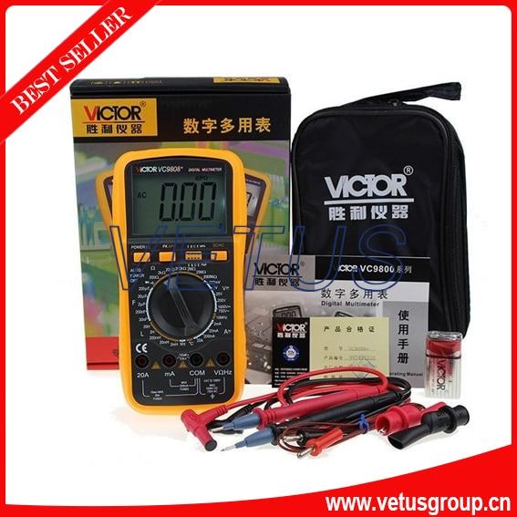 VICTOR VC9808+3 1/2 Large LCD handheld digital multimeter victor vc70f digital multimeter